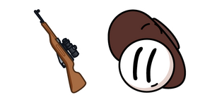 Henry Stickmin Jack Doogan and Rifle Cursor
