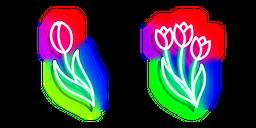 Neon Tulip Cursor