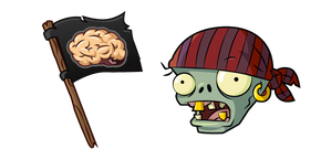 Plants vs. Zombies Flag Pirate Zombie Cursor