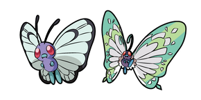 Pokemon Butterfree and Gigantamax Butterfree Cursor