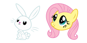 My Little Pony Fluttershy and Angel Cursor