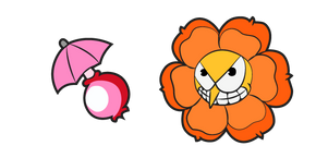 Cuphead Cagney Carnation and Pink Seed Cursor
