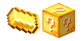 Minecraft Lucky Block and Gold Ingot