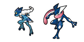 Pokemon Frogadier and Greninja Curseur