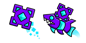 Geometry Dash Cube 41 and Ship 10 Cursor