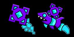 Geometry Dash Cube 41 and Ship 10 Cursor