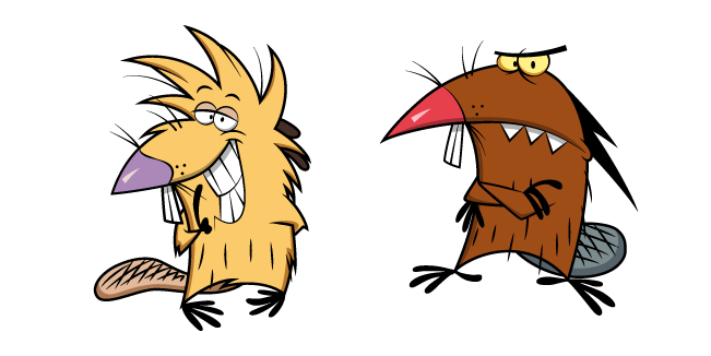Angry Beavers Norbert and Daggett