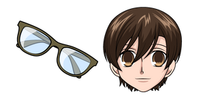 Ouran High School Host Club Haruhi Fujioka and Glasses Cursor