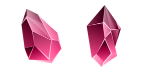 Red Beryl Crystal Curseur