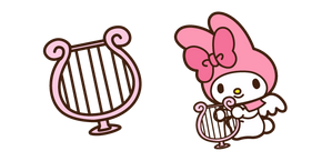 My Melody and Harp Cursor