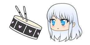 Gacha Life Kinen and Drum Set Cursor
