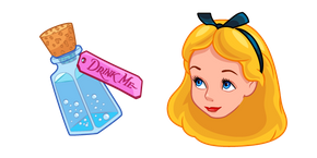 Alice in Wonderland and Bottle Cursor