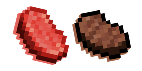 Minecraft Steak and Raw Beef Cursor