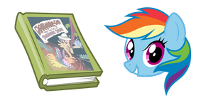 My Little Pony Rainbow Dash and Book Cursor