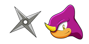 Sonic Espio the Chameleon and Shuriken Cursor