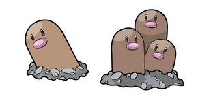 Pokemon Diglett and Dugtrio Cursor