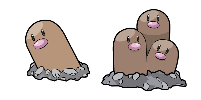 Pokemon Diglett and Dugtrio