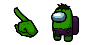 Курсор Among Us Hulk Character