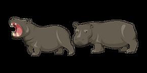 Hippopotamus Curseur
