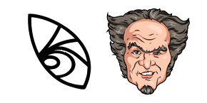 A Series of Unfortunate Events Count Olaf and Tattoo Cursor