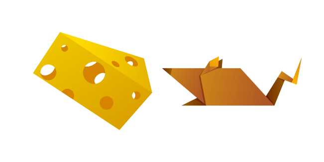 Origami Mouse and Cheese