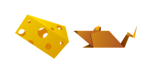Origami Mouse and Cheese Cursor