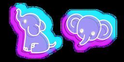 Neon Elephant Cursor