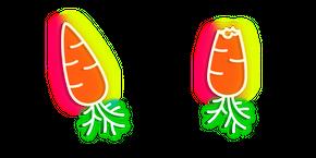 Neon Carrot Curseur