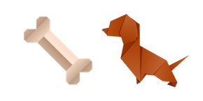 Origami Dog and Bone Cursor