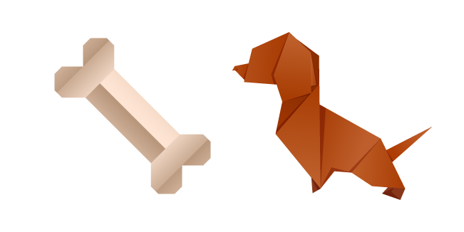 Оригами Собака и Кость
