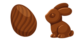 Chocolate Easter Bunny and Egg Cursor