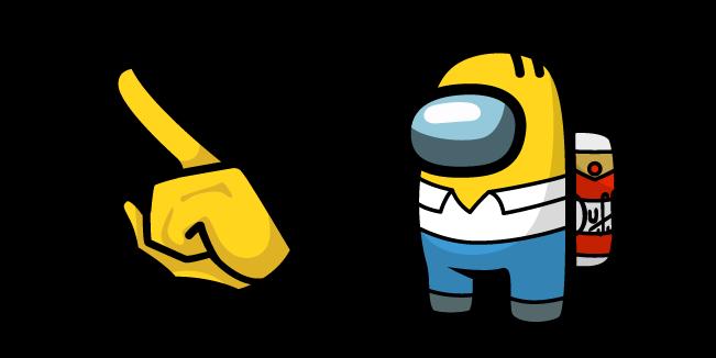 Among Us Homer Simpson Character