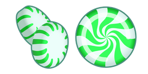 Green Peppermint Candy Cursor