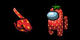 Among Us Strawberry Character Cursor