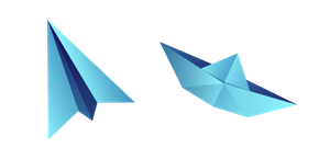 Origami Airplane and Boat Cursor