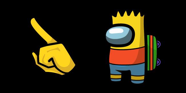 Among Us Bart Simpson Character