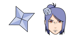 Naruto Konan and Paper Shuriken Cursor