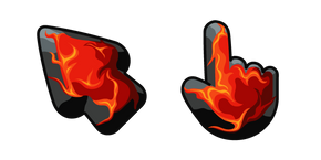 Materials Burning Charcoal Cursor