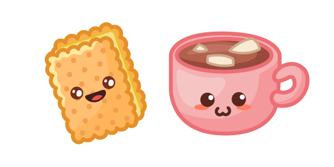 Cute Sandwich Cookie and Cocoa