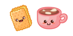 Cute Sandwich Cookie and Cocoa Cursor