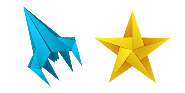 Origami Rocket and Star