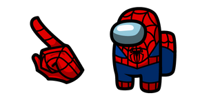 Among Us Spider-Man Character Cursor