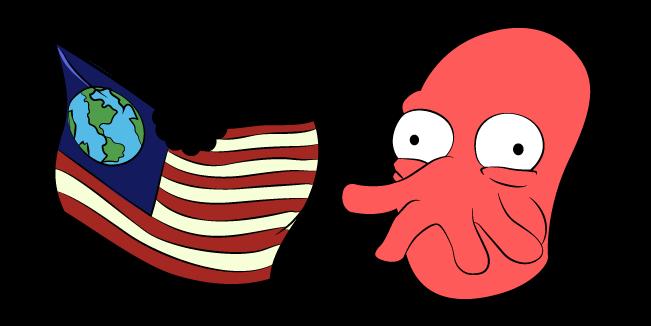 Futurama Dr. Zoidberg and Flag