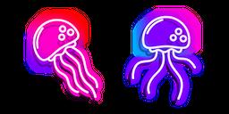 Neon Jellyfish Cursor