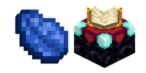 Minecraft Enchanting Table and Lapis Lazuli Curseur