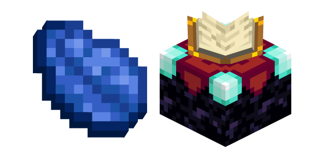 Minecraft Enchanting Table and Lapis Lazuli