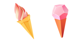 Origami Ice Cream Cursor