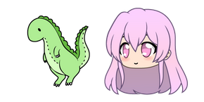 Gacha Life Mumble and Dino Doll Cursor