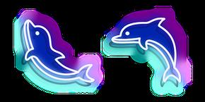 Neon Dolphin Cursor