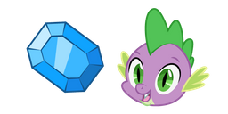 My Little Pony Spike and Gem Cursor